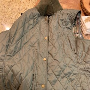 LLBEAN riding/barn vest - olive/greyish green XL